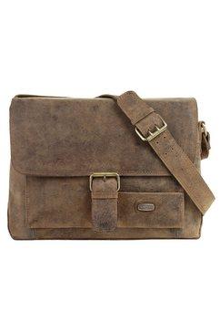 harold's leer schouder tas »antik« bruin