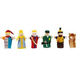 roba handpop poppenkastfiguren, 6-voudig gesorteerd multicolor