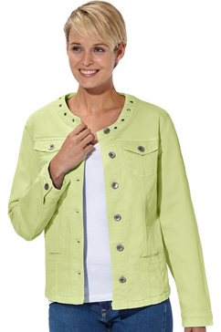 collection l. blazer in jeans-look groen