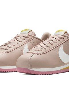 nike sportswear sneakers »wmns classic cortez leather« beige