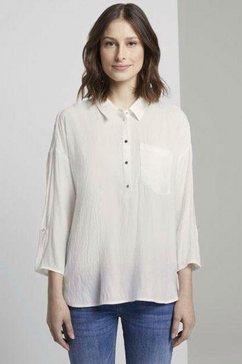 tom tailor denim blouse zonder sluiting beige