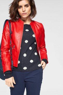 vero moda imitatieleren jack »vmriamarta« rood