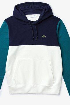 lacoste hoodie blauw
