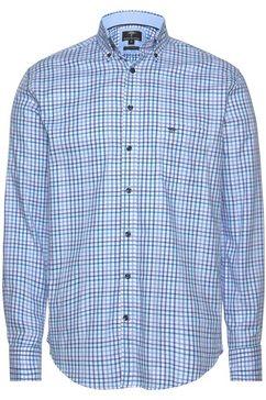 fynch-hatton overhemd met lange mouwen blauw