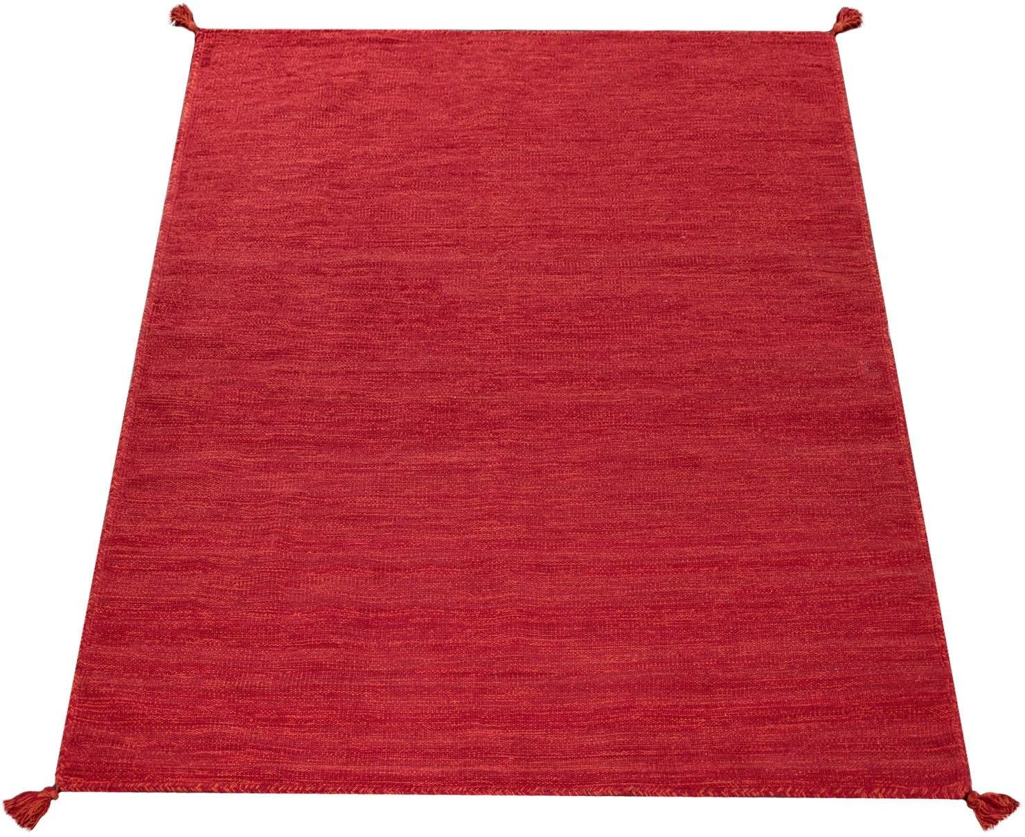 Paco Home vloerkleed Kilim 210 met de hand gemaakt geweven vloerkleed met franje, woonkamer bestellen: 30 dagen bedenktijd