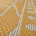paco home vloerkleed »illusion 321«, paco home, rechthoekig, hoogte 5 mm, machinaal geweven geel