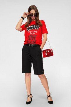 love moschino shirt met ronde hals rood