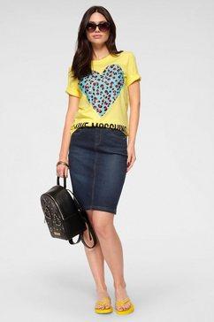 love moschino shirt met ronde hals geel