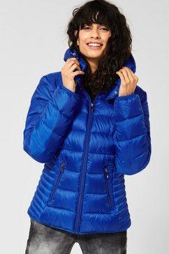 street one gewatteerde jas blauw