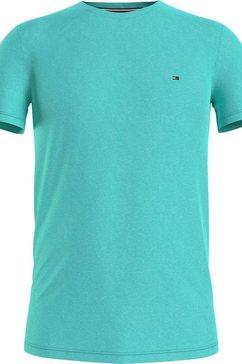 tommy hilfiger t-shirt »stretch slim fit tee« blauw