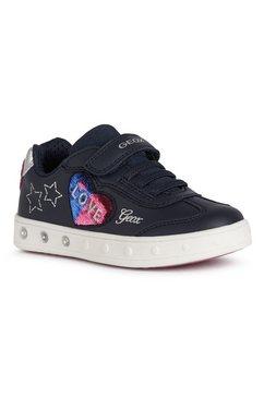 geox kids sneakers schoenen skylin girl met leuke hartapplicatie blauw