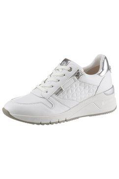 tamaris sneakers met sleehak rea met mooie metallicdetails wit