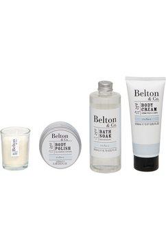 set voor huidverzorging belton  co - relax bath  body set (4-delig) wit