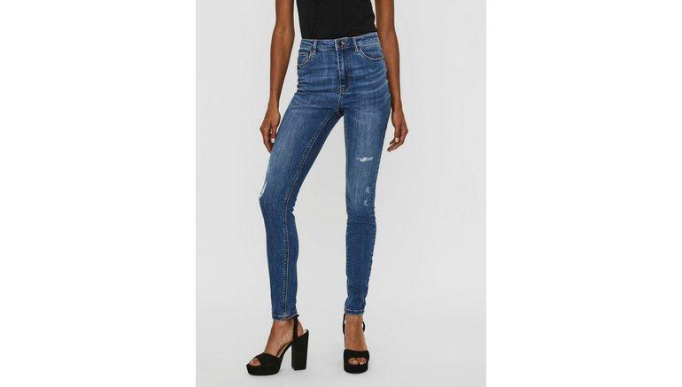 Vero Moda high-waist jeans VMSOPHIA met kleine destroyed-effecten