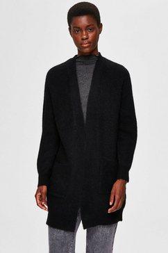 selected femme lang vest »slflulu« zwart