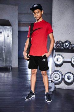 nike sportswear short nike sportswear big kids' boys zwart