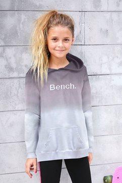 bench. hoodie met logoborduursel zwart