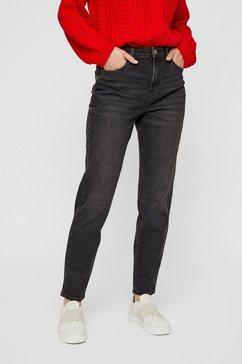 pieces enkellange mom jeans zwart