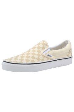 vans sneakers »checkerboard slip-on« wit
