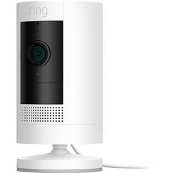 ring smart home-camera »stick up cam plugin - white - eu« buiten, binnen wit