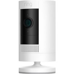 ring smart home-camera »stick up cam battery - white gen 3« buiten, binnen wit
