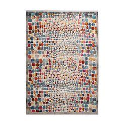 me gusta vloerkleed »anouk 100«, me gusta, rechthoekig, hoogte 5 mm, machinaal geweven multicolor