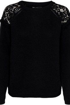 only trui met ronde hals »onlelrosa« zwart