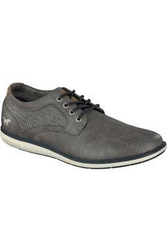 mustang shoes veterschoenen grijs