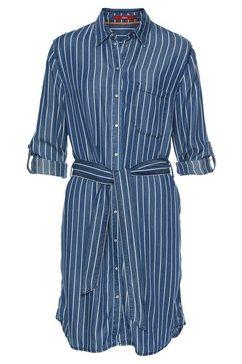 s.oliver jurk met overhemdkraag blauw