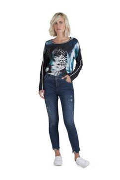 public vernietigde jeans in gebruikte look blauw