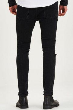 jack  jones skinny fit jeans »liam« zwart