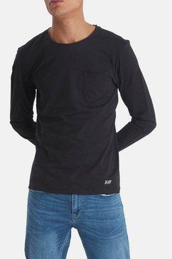blend shirt met lange mouwen zwart