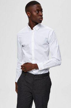 selected homme overhemd met lange mouwen »slim michigan shirt« wit