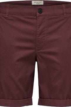 selected homme bermuda »straight-paris shorts« paars