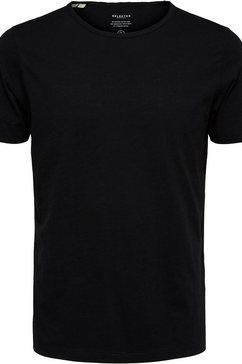 selected homme t-shirt »morgan o-neck tee« zwart
