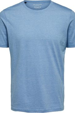 selected homme t-shirt »the perfect mel o-neck tee« blauw