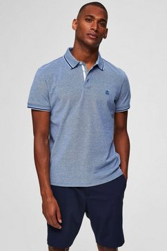 selected homme poloshirt »twist polo« blauw
