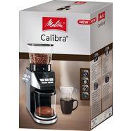 melitta »calibra 1027-01 schwarz-edelstahl« koffiemolen zilver