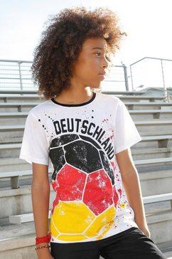 arizona t-shirt »voetbal« wit