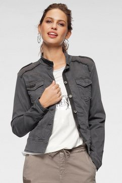 monari jeansjack grijs