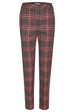 nicowa lange broek met schots motief - mikola rood