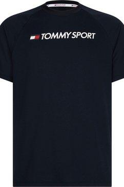 tommy sport runningshirt »training top mesh logo« blauw