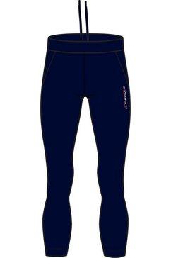 tommy sport runningbroek »mesh legging« blauw