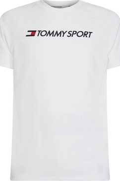 tommy sport runningshirt »training top mesh logo« wit
