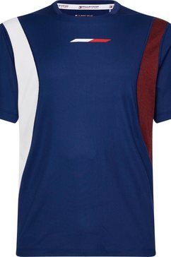 tommy sport runningshirt »block panel top« blauw