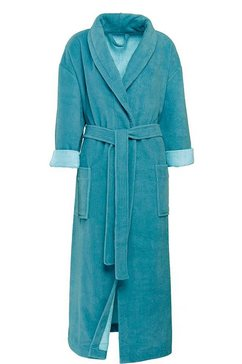 goezze uniseks badjas turijn met riem en twee opgestikte zakken blauw