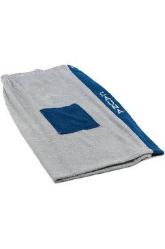 goezze sarong dames wellness met verstelbare knopen en opgestikte zak blauw