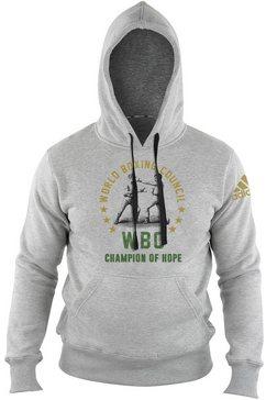 adidas performance hoodie »wbc hoody heritage« grijs