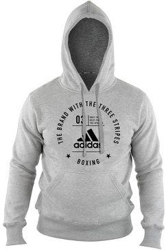 "adidas performance hoodie »community hoody ""boxing""« grijs"