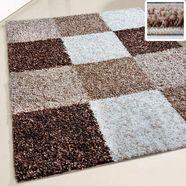 resital the voice of carpet hoogpolig vloerkleed »harmony 20«, resital the voice of carpet, rechthoekig, hoogte 30 mm, machinaal geweven bruin